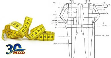 راهنمای سایزبندی و سایزگیری مانتو فرم اداری ۱۴۰۰